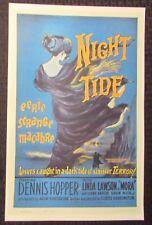 "NIGHT TIDE 11x17"" Mini Movie Poster VF- 7.5 Dennis Hopper"