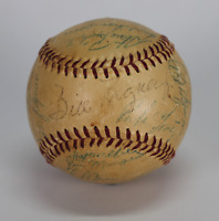 1956 New York Giants team signed autographed baseball! Willie Mays! JSA LOA!