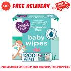 Parents Choice Gentle Clean Aloe Baby Wipes, 12 Flip-Top Packs 1200 Total Wipes