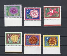 TIMBRE STAMP 6 POLOGNE Y&T#1450-55 FLEUR FLOWER ROSE NEUF**/MNH-MINT 1972 ~B35
