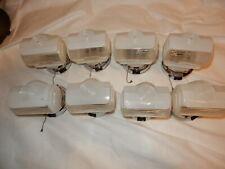 Set of 8 Retro Nickel Plated Art Deco Bathroom Kitchen Sconces Orig.Shades