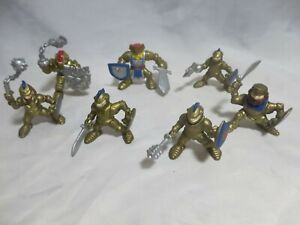 Fisher Price Great Adventure Castle Knights Lot of 7 Gold Figures 1994