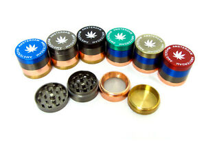 Small Tobacco Grinder Shredders 30mm 4 Pieces Dry Herb Spice Crusher Multicolor