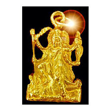 Gold plated 925 Hindu GODDESS KALI Charm OM SHIVA Mahavidya destroyer of evil