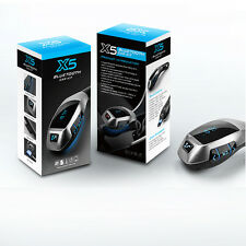 Bluetooth Car Kit MP3 X5 Trasmettitore FM Wireless USB SD LCD CARICABATTERIE Vivavoce UK