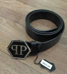Philipp Plein Belt  100%Leather Belt Skull Genuine Leather for jeans