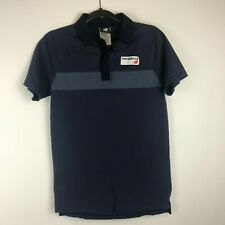 New Balance Mens Collared Polo Shirt Size S Navy Short Sleeves