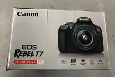 EXCELLENT Canon Rebel Eos T7 EF-S 18-55 IS II Kit NO CHARGER