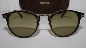TOM FORD New Sunglasses Dark Havana Gold Green Jamieson TF673 52N 51 21 145