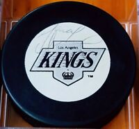 Marcel Dionne SIGNED LOS ANGELES KINGS LA VINTAGE CZECHOSLOVAKIA HOCKEY PUCK NHL