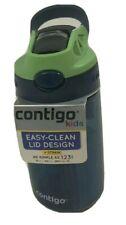 Contigo Kids Water Bottle Straw Easy-Clean Lid Blueberry Green Apple 14 oz.