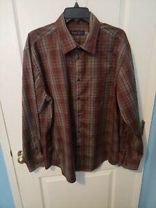 Mens Kenneth Roberts Platinum Long Sleeve XL Shirt  Excellent Condition