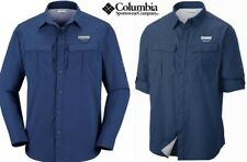 COLUMBIA long sleeve vented shirt OMNI SHADE uv sun protection dark blue men 2xl