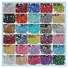 5000PCS Crystal FlatBack Resin Rhinestones Gems 41colors 2mm,3mm,4mm,5mm,6mm #02