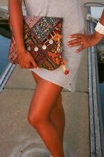 Vintage Boho Bag Hippie Style Indian Banjara Gypsy Shoulder Crossbody Clutchbag