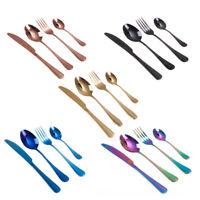 4x/set en acier inoxydable Rainbow vaisselle cuillère à fourche coutellerie