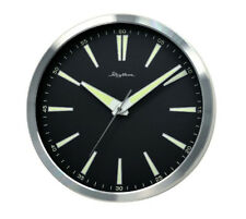Large Retro Metal Luminous Glow Silent No Ticking Movement Bedroom Wall Clock
