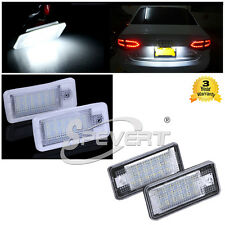 2x 18 LED LICENSE NUMBER PLATE LIGHT LAMP for Audi A3 A4 B6 B7 A6 S6 A8 Q7 RS6