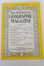 National Geographic Magazine August 1943 Iran Navy Caribbean Flight Normandy