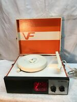 Vintage Vanity Fair Childs Record Player With Strobe Light working