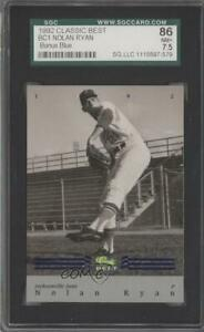1992 Classic Best Minor League Bonus Card Blue Nolan Ryan #BC1 SGC 86 HOF