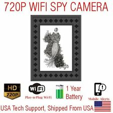 1 YEAR Battery Powered WIFI Photo Picture Frame Wireless Spy Camera Nanny Cam