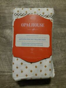 New Opalhouse Percale Print Cotton King Pillowcases Gold