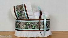 BLUE HUNTING CAMO CAMOUFLAGE BOY DIAPER BASSINET BABY SHOWER TABLE DECORATION