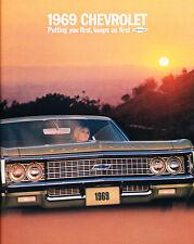 1969 Chevrolet 28-page Original Sales Brochure Catalog - Impala SS Caprice
