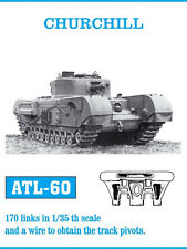 1/35 ATL60 FreeShip FRIULMODEL METAL TRACKS FOR  CHURCHILL for TAMIYA AFV CLUB