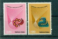 """Nations Unies Géneve 1982 - Michel n. 109/10  - """"Conservation et Protection de l"""