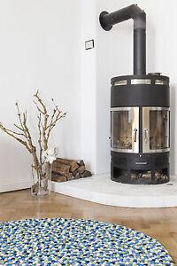 myfelt Fritz 160 cm Design Teppich grün Wolle Filzkugelteppich Kinder-Teppich