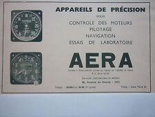 11/1938 PUB ETS AERA EQUIPEMENTS AVIATION AVION ALTIMETRE TACHYMETRE ORIGINAL AD
