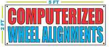 COMPUTERIZED WHEEL ALIGNMENTS Banner Sign Larger Size for Tire Car Shop Mechanic