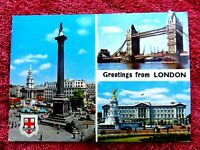 THREE  LONDON  VIEWS  ENGLAND  COLOUR  POSTCARD  [498]