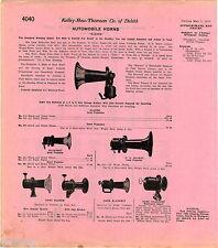 1916 ADVERT Klaxon Automobile Car Auto Horn Horns Klaxonet Klaxet Hand Power
