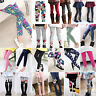 Kids Girls Thick Thermal Leggings Skinny Pants Trousers Long Socks Winter Warm