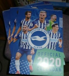 THE OFFICIAL SEAGULLS WALL CALENDAR 2020 (LAST YEARS!!)  BRIGHTON & HOVE ALBION