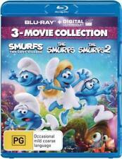 Smurfs 1 & 2 & The Lost Village Box Set Blu-ray Region B New!