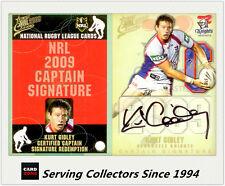2009 Select NRL Classic Captain Signature Redemption Cards CS19 K.GODLEY