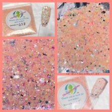 Holographic Iced Opal Diamond Nail Art Glitter Mix Acrylic Gel Nail Polish Slv-R