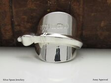GORGEOUS  ART DECO SOLID STERLING SILVER SPOON RING ASSAY APPROVED - SIZE L