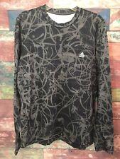 Adidas Men's Black/Gray Techfit Long Sleeve Compression Base layer Shirt Size XL
