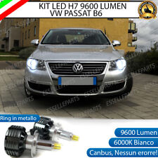 KIT LED H7 CANBUS VW PASSAT B6 LED 360° 9600 LUMEN 6000K BIANCO + PORTALAMPADE