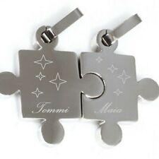 Schmuckanhänger Puzzle Edelstahl mit 2 Ketten und Gravur