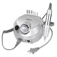 Professional Silver Electric Nail Drill File Bits Machine Manicure Kit 30000 RPM