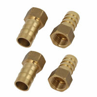 1/4BSP Female Thread 12mm Hose Barb Brass Tubing Coupler Connector Fitting 4pcs