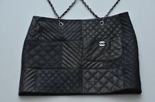 Rare CHANEL 10A $4.8K Quilted Lambskin CC Lock Skirt Chain Suspenders 40 NWT