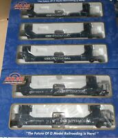 ATLAS O 2-RAIL CSX GUNDERSON MAXI STACK 5 CAR SET LN FOR LIONEL MTH DOUBLE HUSKY