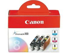 Genuine Canon CLI-8 C/M/Y Ink Cartridges Color set of 3 for Canon Pixma iP3500
